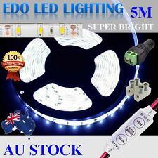 12V Cool White 5M 5630 SMD 300 Leds LED Strips Strip Light Waterproof + Dimmer