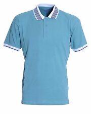 Hommes Double Two Old Salt Plain Turquoise Polo Shirt medium CS076 RR 12