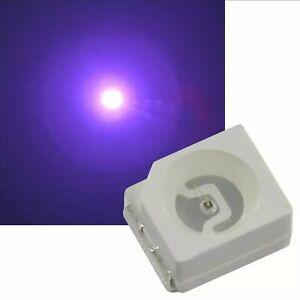 100 Stück SMD LED 3528 PLCC2 UV PLCC-2 3,5x2,8x1,9mm SMDs Tacho KFZ Lila LED's
