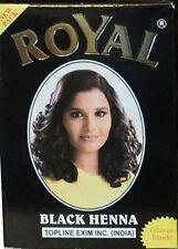 Royal Henna Mehendi Powder Hair Dye Colour black 6 x 10g sachet gloves includes