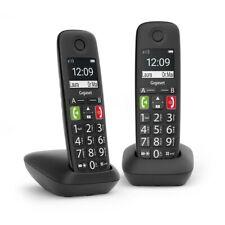 Gigaset e 290 duo Teléfono Inalámbrico con teclas grandes grande pantalla negro
