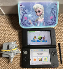 *Nintendo 3DS XL* Black & Silver Handheld Console with Stylus, Charger & Case