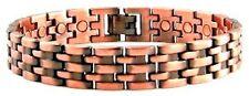 Mens Solid Copper Link Magnetic Bracelet for Men Pisa 9.5 inch Extra Long Large