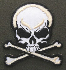 Skull & Crossbones Iron On/Sew On Patch Emo Goth Punk Rockabilly