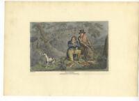 Henry Alken Original 1825 Aquatint - Poachers