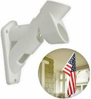"Flag Pole Bracket 1"" plastic Outdoor Wall Mount Support Holder Heavy Duty New"