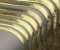 """Unisex Herringbone Chain   14k Gold Plated 4 to 14mm wide 20"""" 24"""" 30""""  Necklace"""