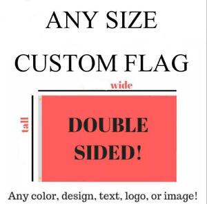 Custom Flag 3x5ft DOUBLE Sided Banner US shipper