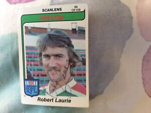 Scanlens 1980 Rugby League Card NRL Robert Laurie Autographed South Sydney