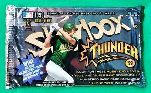 1999 Skybox Thunder MLB Baseball Trading Cards Sealed Hobby Pack