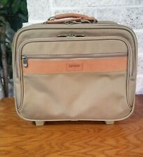 NWOT HARTMANN KHAKI NYLON WHEELED TRAVEL CARRY ON BAG COMPUTER  BRIEFCASE