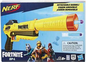 Nerf Fortnite SP-L Elite Blaster w/ 6 Darts & Removable Barrel Silencer Gun NEW