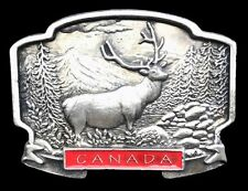 BOUCLE DE CEINTURE CANADA HUNTER HUNTING GAME SPORTS ELK MOOSE BELT BUCKLE