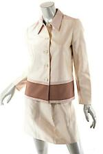 PRADA Vanilla Silk Blend Strapless Dress Skirt Jacket 3 Piece SUIT Set Sz 40 US4