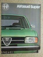 ALFA ROMEO - Alfasud Super - ORIGINAL SALES  ITEM - late 1970's  / early 1980's.