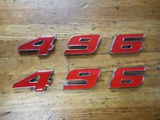 CHEVROLET 496 STROKER ENGINE ID FENDER HOOD SCOOP QUARTER EMBLEMS - RED