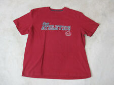 Roots Canada Shirt Size Adult Large Red Gray Olympics Olympian Cotton Mens