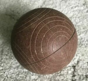 "Vintage Bocce Ball, 4"" Brown"