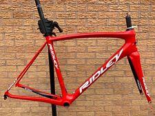 Ridley Fenix SL cuadro Y Horquilla De Carbono Bicicleta de Carretera Marco Pequeño Rojo PMC