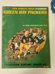 1970 GREEN BAY PACKERS Sports Focus Yearbook 14-Game Program Line-Ups