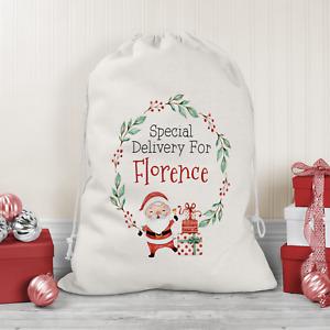Personalised Santa Sack Father Christmas Bag Present Xmas Stocking Gift