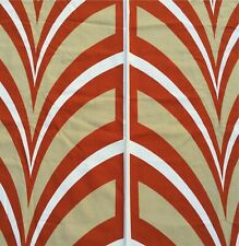 Vtg Mid Century Abstract Op Art Rust Waves Heavy Upholstery Fabric 7 Yds Norfix