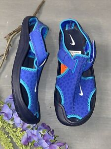 Nike Sunray Protect Sandal Shoes Blue Youth 3 3Y Beach Pool Sandal Water Shoes