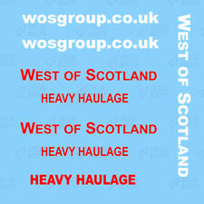 WEST OF SCOTLAND DECALS 1/50 SCALE-  WHITE
