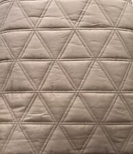 BOSS HUGO BOSS CLASSIC HOME COLLECTION F/Q COVERLET STONE GREY TRIBECA NEW