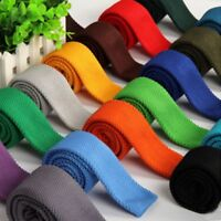 Solid Color Fashion Knitted Knit Slim Necktie Narrow Tie Woven