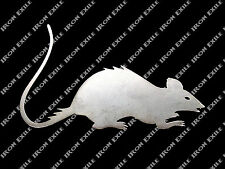 Rat Metal Art Hot Rod Grill Dash Plaque Chopper Bobber Garage Shop Cutout Plasma