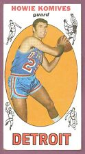 1969 70 TOPPS BASKETBALL 71 HOWIE KOMIVES PISTONS CARD