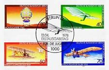 Berlin 1978: Luftfahrt! Jugendmarken Nr. 563-566 mit Ersttags-Sonderstempel!