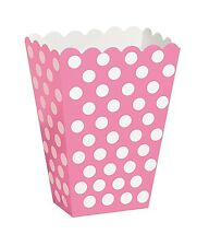 PINK POLKA - Treat Boxes[8], Baby Shower,Birthday Party Girl, Baptism Decoration