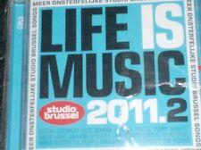 LIFE IS MUSIC 2011.2  - STUDIO BRUSSEL (2 CD) dEUS, Elbow, Milow, School is Cool