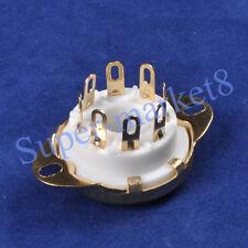 4pcs 8pin Octal Ceramic Gold Tube Socket 6SN7 KT66 KT88 EL34 5U4G 6CA7 Chassis