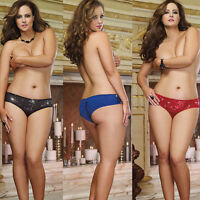 Plus Size Lingerie Size 1X2X  3X4 Black Blue Red Sequin Valentine Panty  DG8529X
