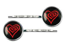 Twisted Heart Marilyn Manson Gothic Shock Rock Music Silver Glass Hair Clips