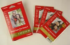 "CANON Pixma Photo Paper Plus Glossy II 4"" x 6""  100 Sheet Pack + 3 Sample Packs"