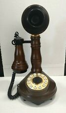 American Communications Candlestick Telephone 1973 Replica Push Button WORKS BS