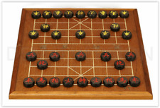 """Chinese Chess, 14.6"""" MDF Board, 1.1"""" Ebony Chinese Chess pieces"""