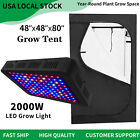 """Best Grow Tents - 2000W LED Grow Lights Full Spectrum + 48""""x48""""x80"""" Review"""