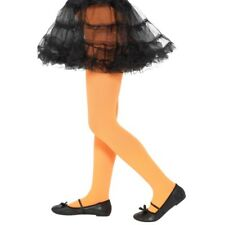 Oscuras NARANJA Medias niña accesorio de disfraz Edad 6-12 años Disfraz