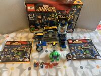 LEGO 76018 Marvel Super Heroes Hulk Lab Smash 100% Complete + Box & Instructions