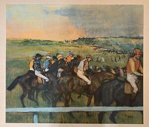 Edgar Degas Horse Race  VIntage Original 1960 1st Print Ltd Ed Lithograph