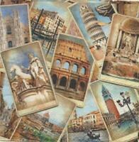 Serviette Papier Rome Italie 33 Cm x 33 Cm Lot 5 Pièces FR Neuf Décoration Scrap