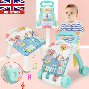 Baby Walker 4 in 1 First Steps Bouncer Push Along Mobility Toys Musical Walking