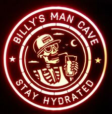 Drunk Camp LED Sign Personalized, Home bar pub Sign, Man cave
