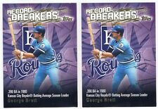 George Brett Baseball 2002 Topps Record Breakers Insert Lot Kansas City Royals