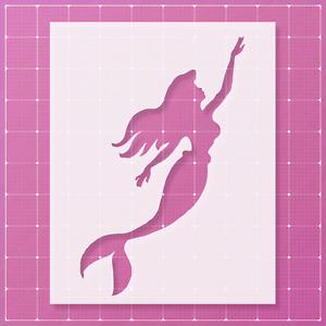 Mermaid Stencil | Mylar (Plastic Sheet) | Reusable&Durable |